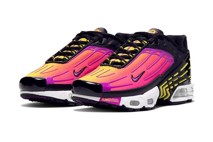 Nike Air Max Plus 3 Black Hyper Purple Optic Yellow Cd6871 005 Release Date Pair