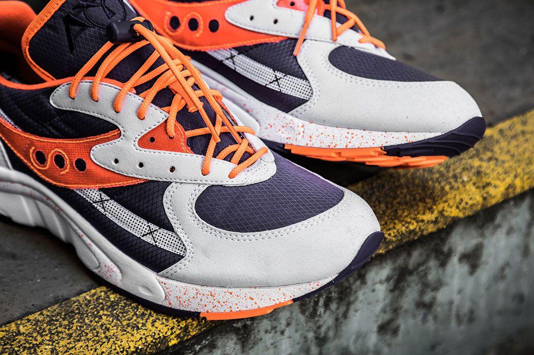 Saucony Aya White Purple Orange Toe