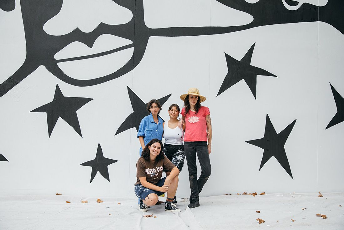 Converse collingwood art mural sustainability Aretha Brown