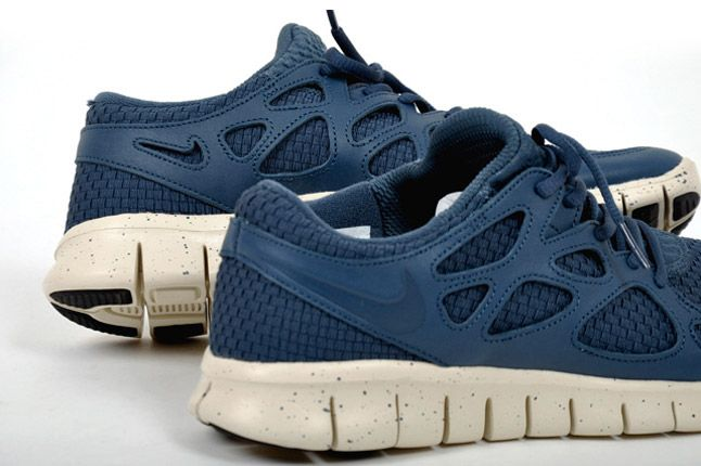 Nike Free Run 2 Woven Leather Tz Heel Blue 1