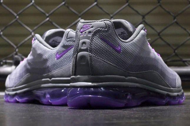 Nike Wmns Air Max 95 Dynamic Flywire Purple Grey Heels 1
