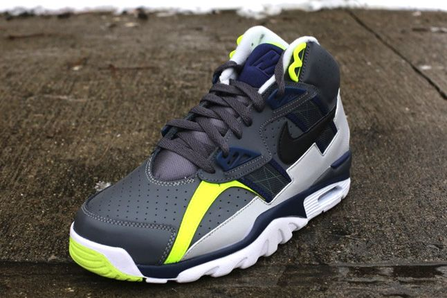 Nike Air Trainer Sc High Neon Grey Quarter Front 1