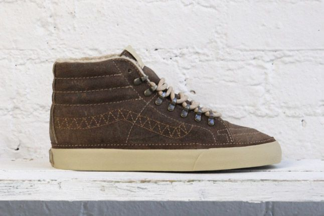 Dqm Vans Womens Winter Collection Sk8 Hi Reissue Ca Hiker Brown 1