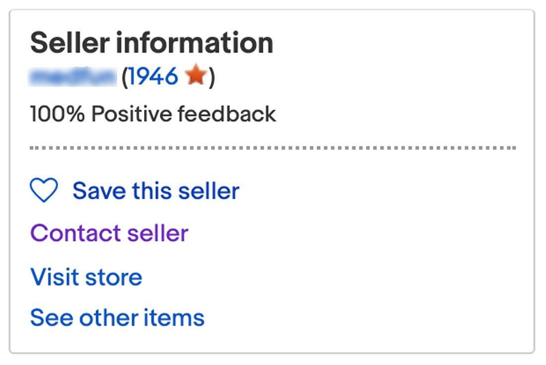 eBay Contact Seller
