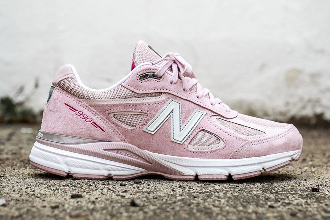 New Balance 990V4 Faded Rose Lateral