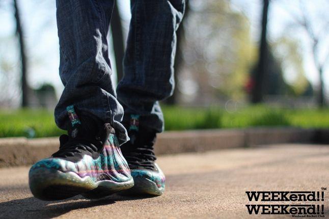 Nike Foamposite Rocket Boy Nift Sunset Strip On Feet 1