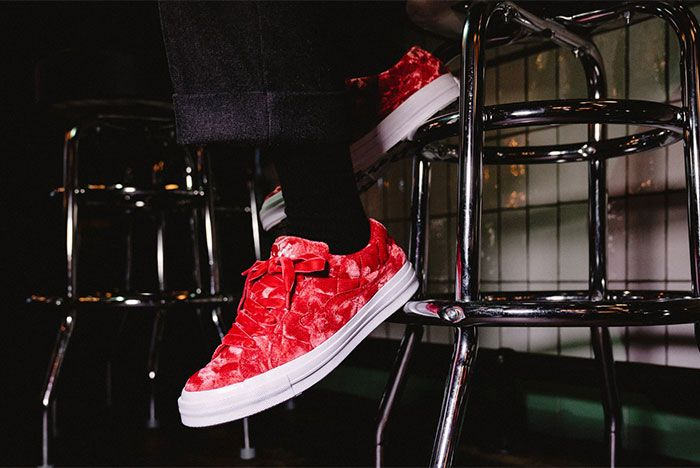 Golf Le Fleur Converse All Star Quilted Red Left Side View