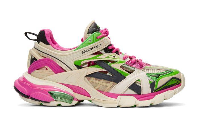 Balenciaga Track 2 Pink Green Right
