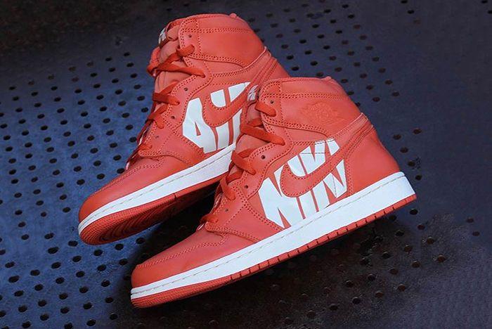 Air Jordan 1 Big Logo Orange 1 Sneaker Freaker