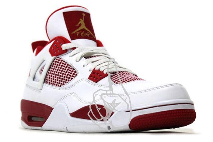 Air Jordan 4 White Red Olympic Pe 1