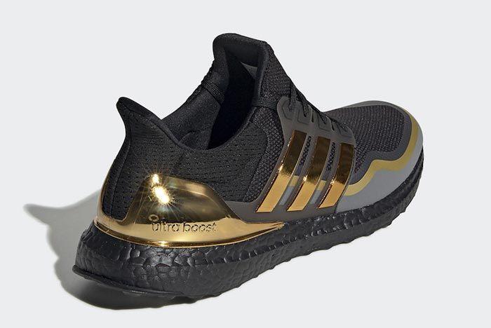 Adidas Ultraboost Black Metallic Gold Back