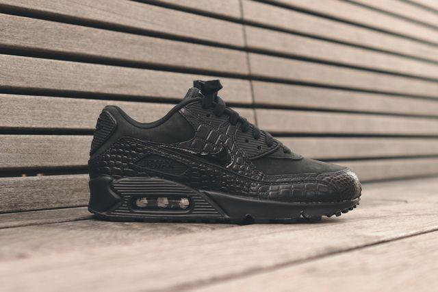 Nike Wmns Air Max 90 (Triple Black Croc) - Sneaker Freaker