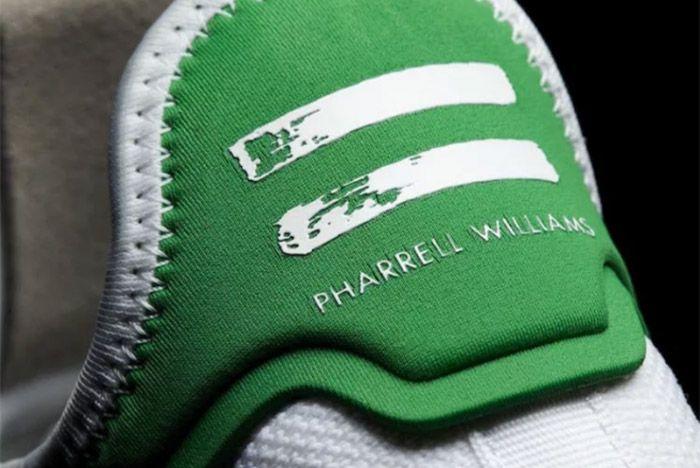 Pharrell Williams Adidas Tennis Hu White Green 3