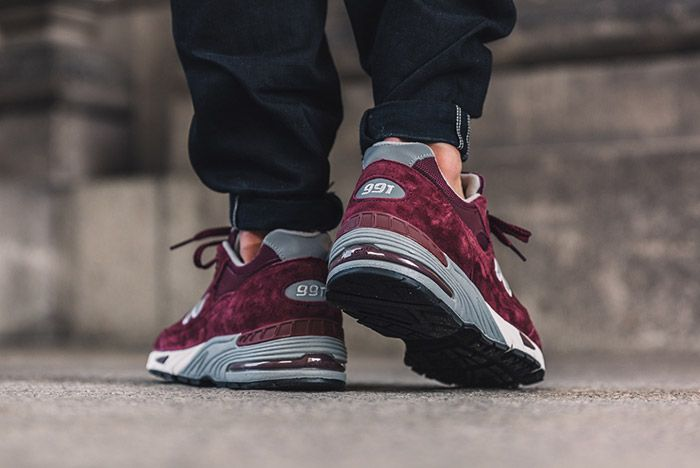New Balance 991 Made In England Burgundy 3
