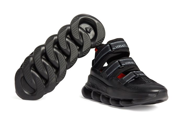 Versace Chain Reaction Sandals Sole Side
