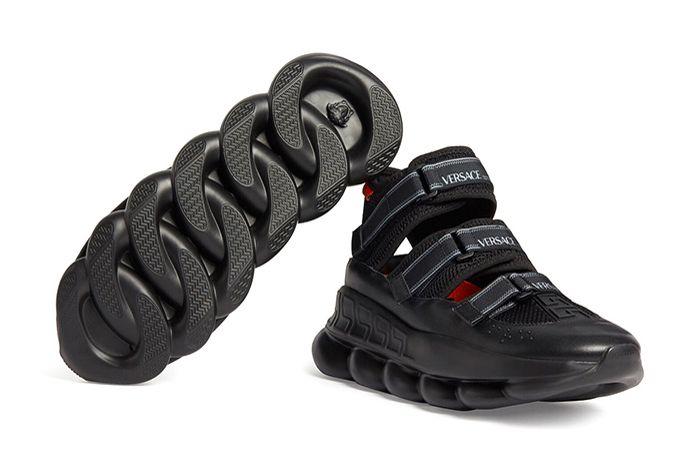 Versace Chain Reaction Sandals Sole Side