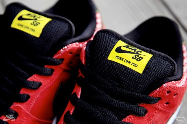 Nikesb Dunk Low Firecracker Pack Red Tongue Detail 1