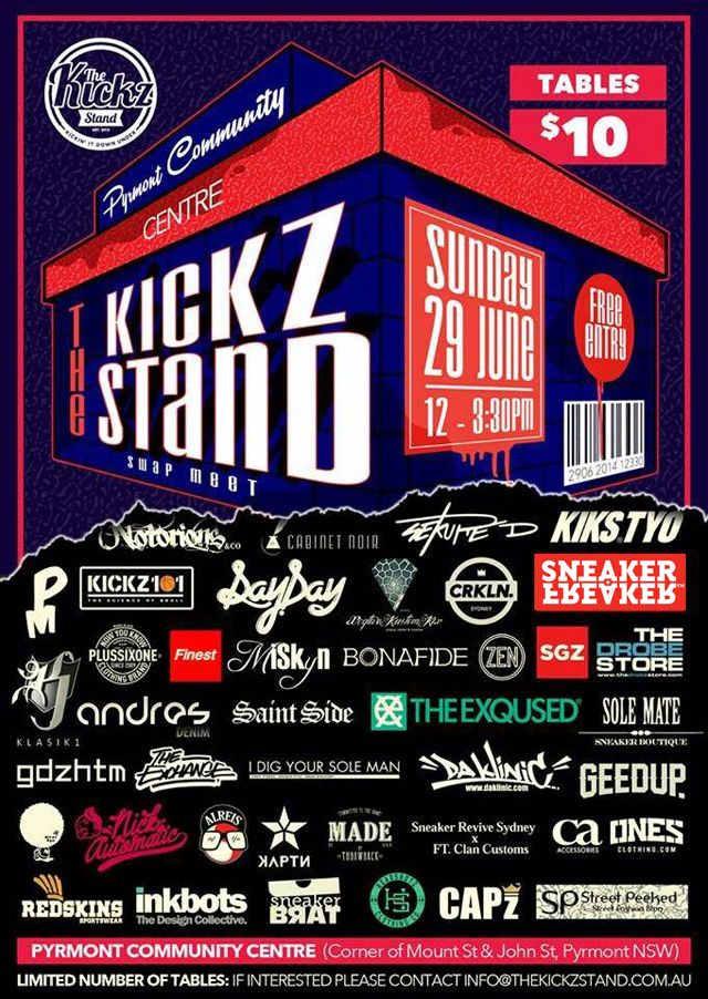 The Kickz Stand Swap Meet 2014 Flyer1