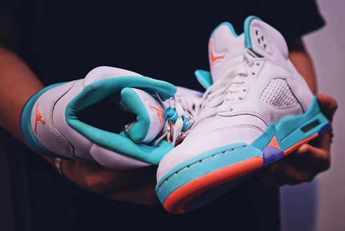 Air Jordan 5 Miami Light Aqua Sneaker Freaker