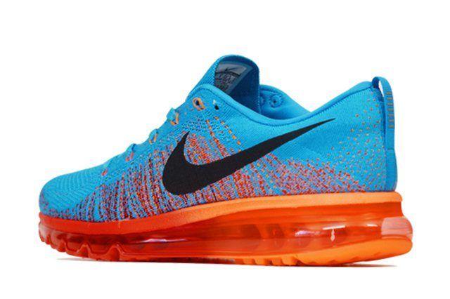 Nike Flyknit Air Max Vivid Blue Atomic Orange 3