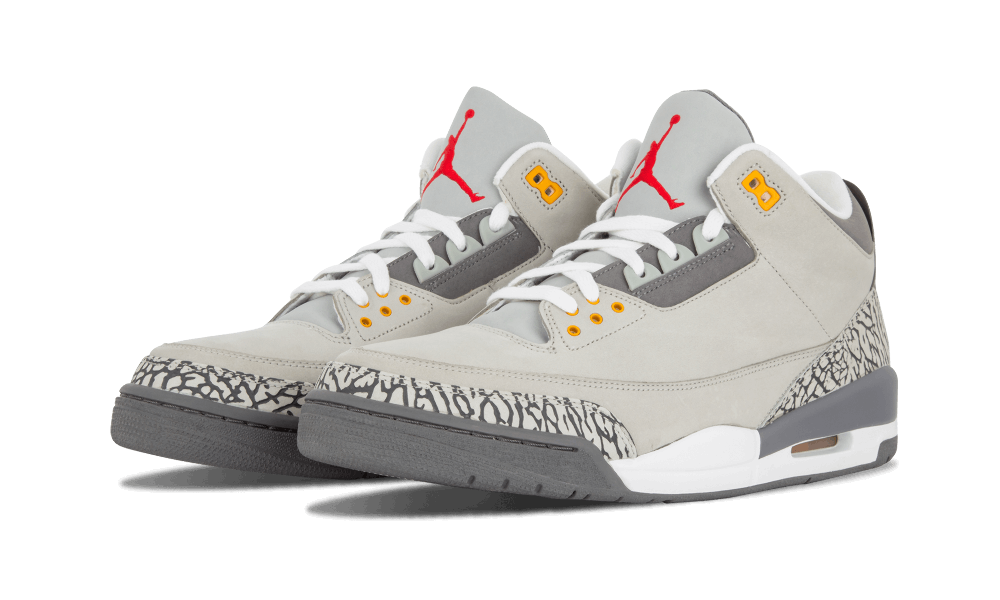 Air Jordan 3 Cool Grey Angled