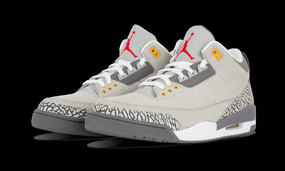 Air Jordan 3 Cool Grey Angled