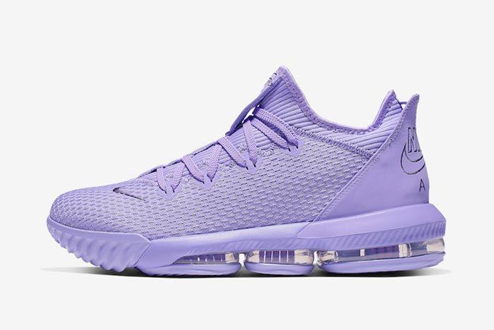 Nike Lebron 16 Low Purple Lateral