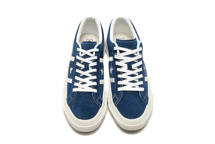 Converse Star And Bars Suede Navy 1