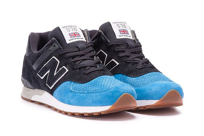 New Balance 576 Made In England Black Blue 6