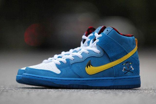 Familia Skates Nike Sb Dunk High Blue Ox 01