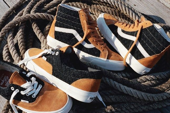 Dqm For Vans Wovens Collection Sk8 Hi Holiday 2012 Two Pairs 1