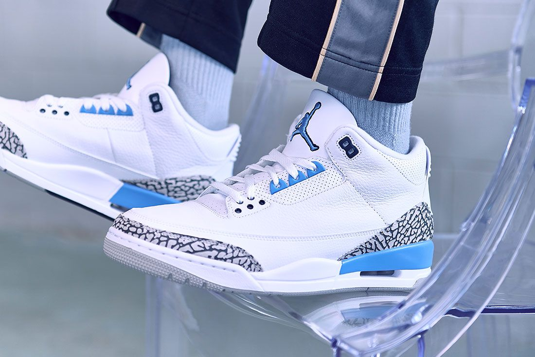 Air Jordan 3 Unc On Foot Jd Sports 2