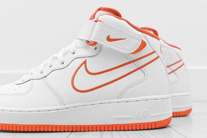 Nike Air Force 1 Mid White Orange 3