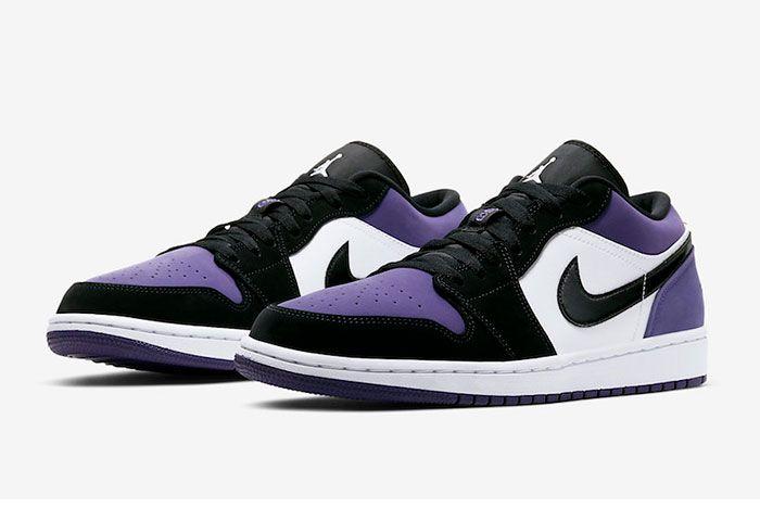 Air Jordan 1 Low Court Purple 553558 125 2019 Release Date 4Pair
