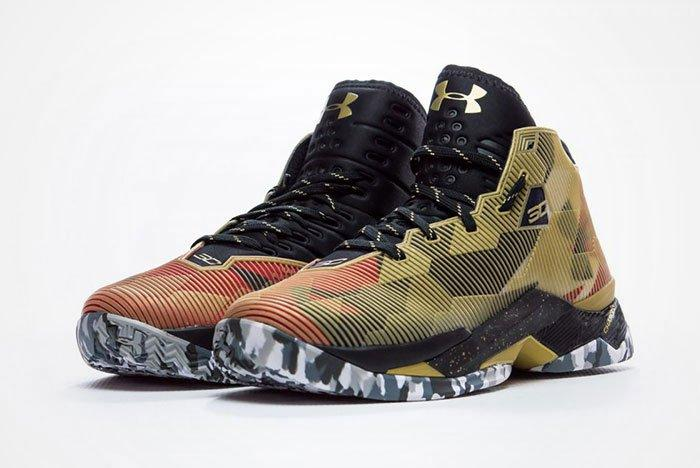 Under Armour Curry 2 5 Metallic Gold Camo Feature