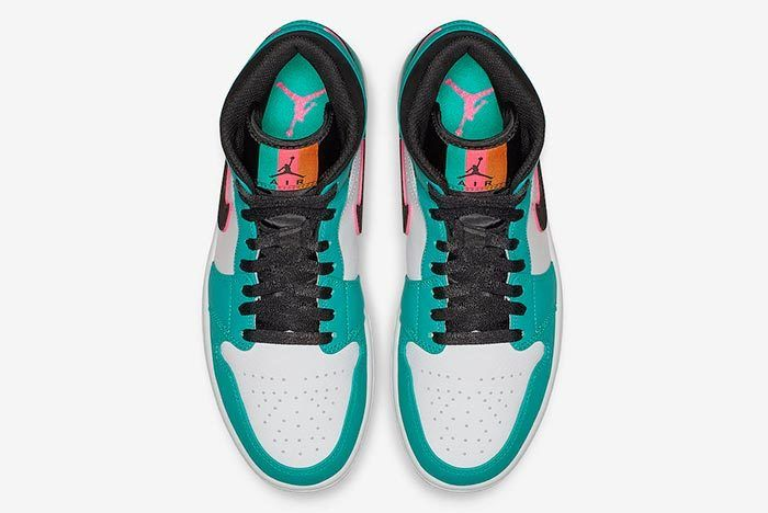 Air Jordan 1 Mid South Beach Turbo Green 852542 306 Release Date 3