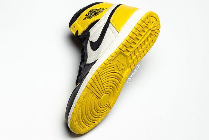 Air Jordan 1 Yellow Toe Ar1020 700 Release Date Angle Sole