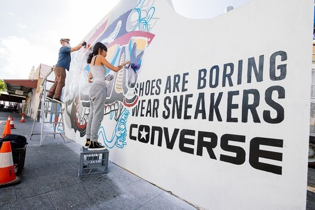 Converse Sneakers Clash Wall Fremantle 6