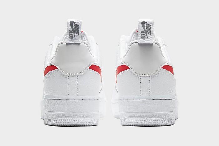Nike Air Force 1 Lv8 Utility White Red Heels