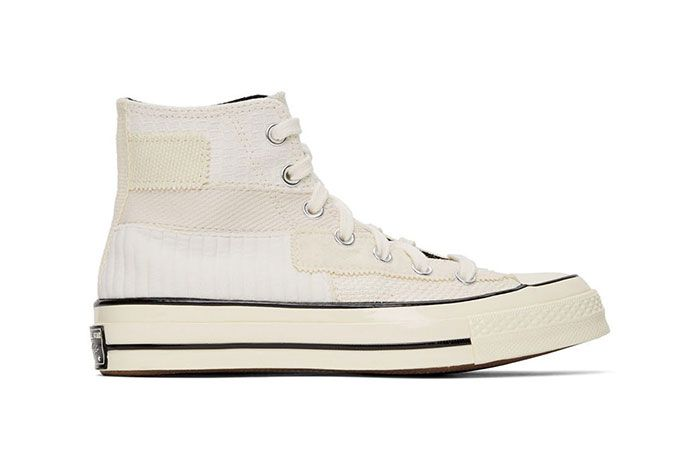 Converse Patchwork Chuck 70 High Sneakers White Lateral