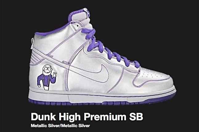 Nike Metallic Silver Dunk Hi Premium Sb 2007 1