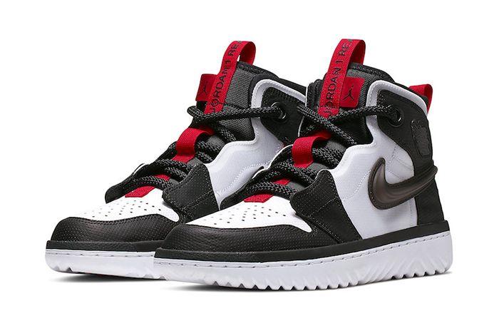 Air Jordan 1 React White Black Red Ar5321 016 Release Date Pair