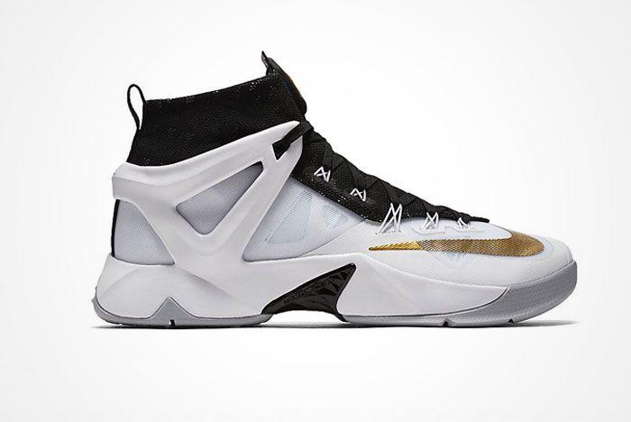 Nike Lebron Ambassador 8 White Black Gold 2