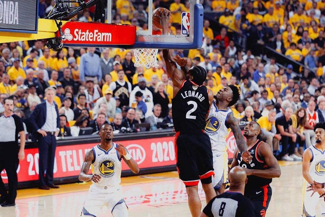 Kawhi Leonard Dunk Nba Finals Header