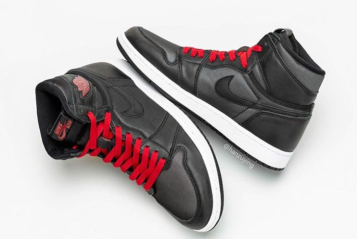 Air Jordan 1 Satin Black Gym Red 555088 060 Release Date 4 Pair