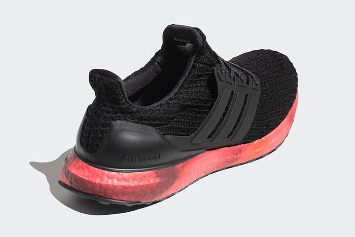 Adidas Ultra Boost Black Red Fv7282 Rear Angle