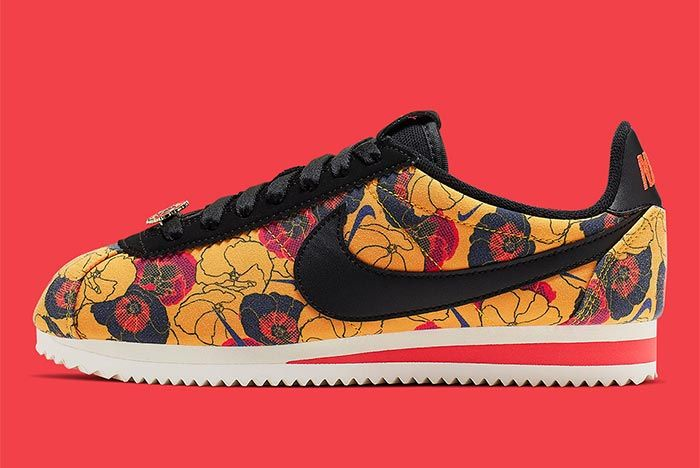 Nike Cortez Av1338 001 Floral Pack Womens Side Shot 5