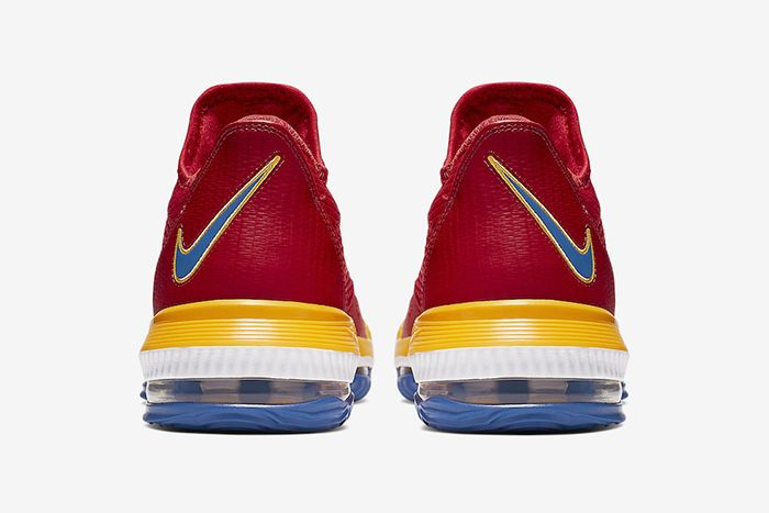 Nike Lebron 16 Low Superbron University Red Varsity Royal Ck2168 600 Release Date Heel