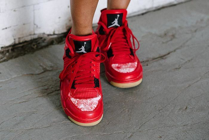 Air Jordan 4 Singles Day Fire Red Gum Hidden Detail 1