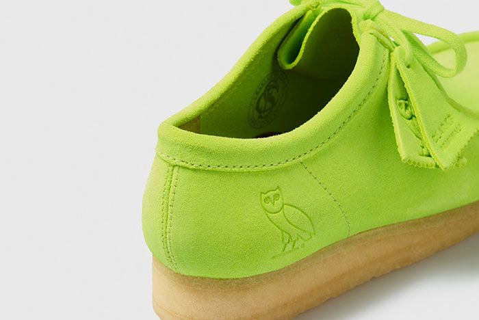 Octobers Very Own Ovo Clarks 2020 Wallabee Neon Heel